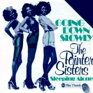 Going Down Slowly - Pointer Sisters; vocal arrangement; choir satb, piano, bass, drums; bladmuziek; sheet music; koorarrangement; koor; lyrics; chords