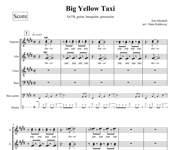 Big Yellow taxi - page 1