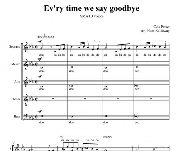 Ev`ry time we say goodbye - page 1
