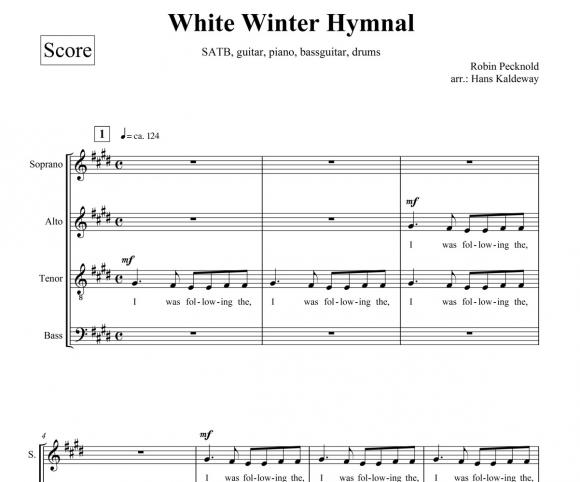 Hans Kaldeway Music Sound White Winter Hymnal