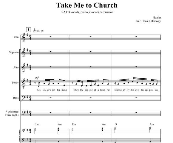take me to church sheet music - Anta.expocoaching.co